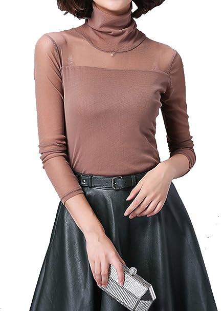 Helan Mujeres Clasico color puro de gran collar de la blusa camisa de la tapa EU