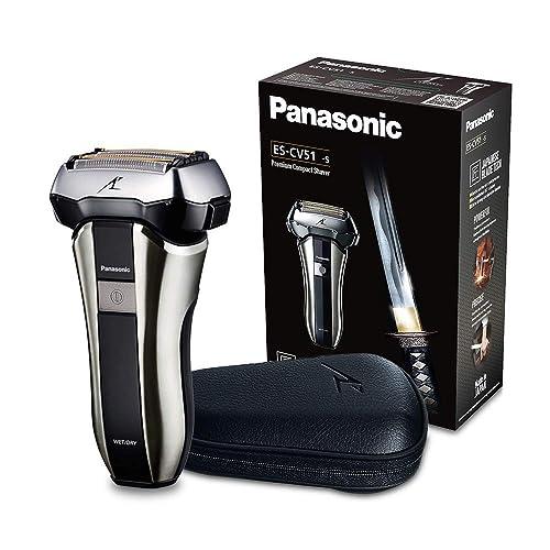 Panasonic ES CV51 S803 Afeitadora Premium Compacta Eléctrica para Hombre Máquina de Afeitar de Láminas para Barba Recargable e Inalámbrica Fabricada en Japón Motor Lineal Wet Dry 5 Cuchillas