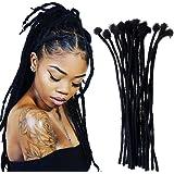 Shinnaul Quality Dreadlocks Extensions made 100% Human Hair Full Handmade Locs Extensions Small Size 0.4cm 60locs per…