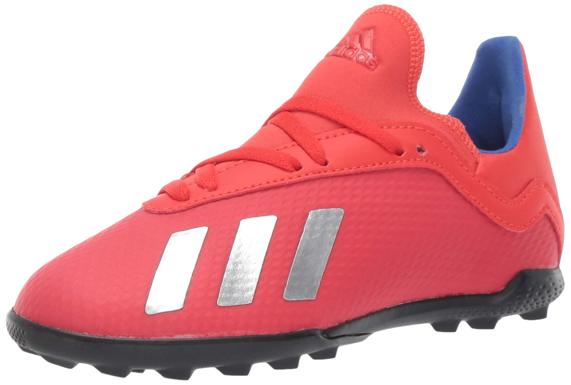 adidas Unisex X 18.3 Turf, Active red/Silver Metallic/Bold Blue, 6 M US Big Kid