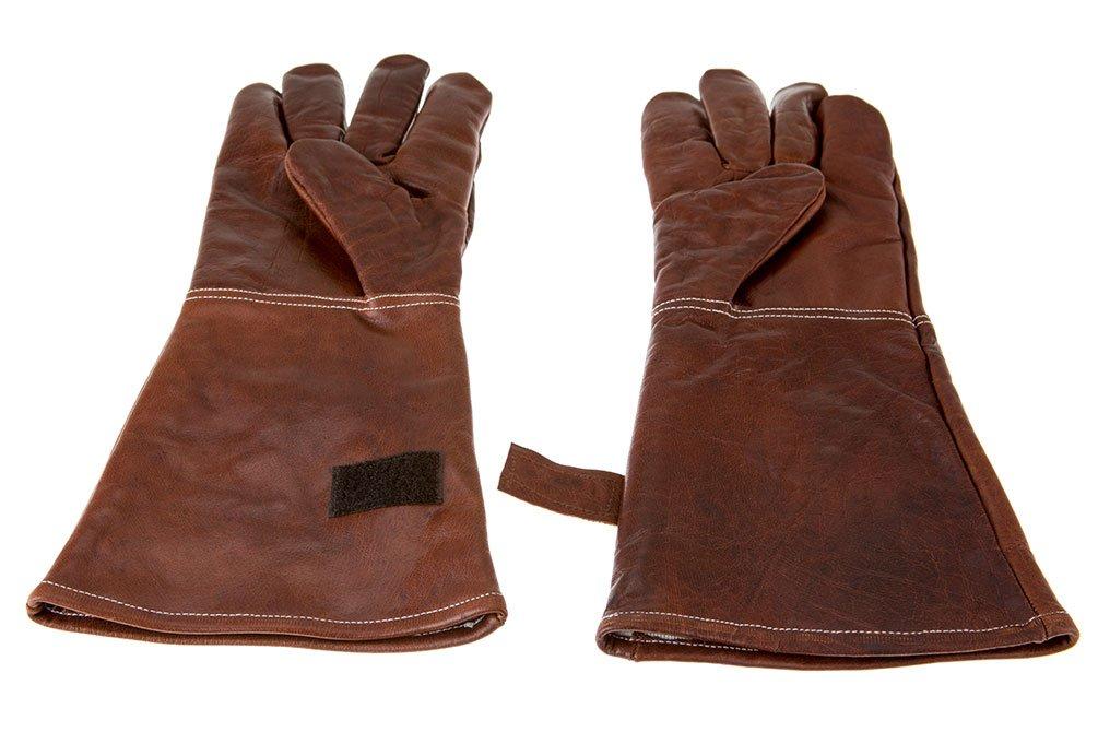Alpenleder BBQ Gloves ALPENGLUHEN   Made of Buffalo Leather   Protective Men Women One Size Brown (Leather, Cognac) by Alpenleder (Image #2)