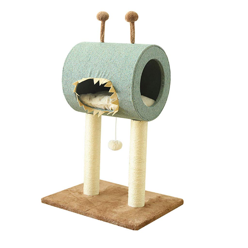 GREEN 49x40x71cm GREEN 49x40x71cm YangMi pet Bed- Cat Litter Cat Climbing Toy Solid Wood Column Home (color   Green, Size   49x40x71cm)