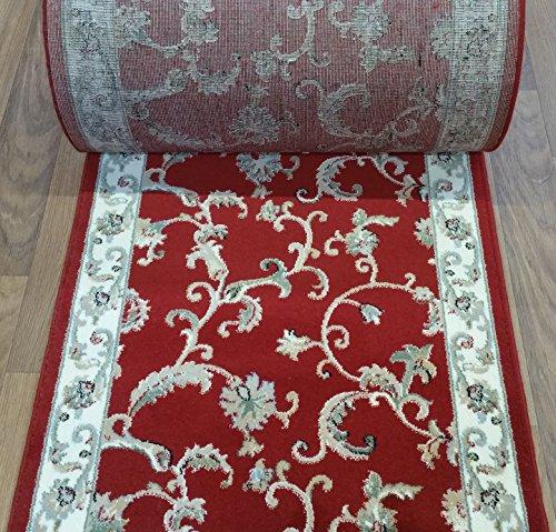 Roll Custom Runner Ivory (137024 - Rug Depot Dynamic Royal Garden 107-8150 Red Traditional Hall and Stair Runner - 32