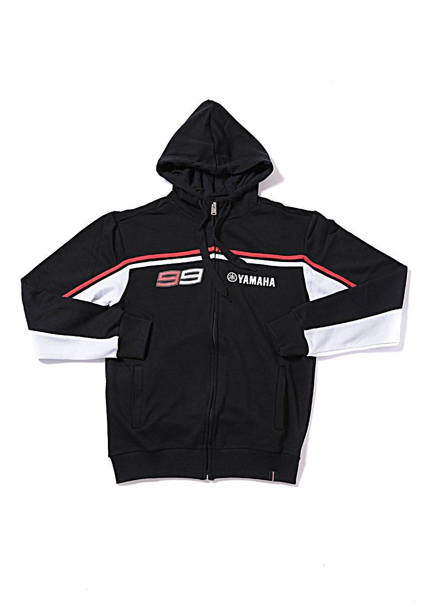 Yamaha Jorge Lorenzo 99 X YAMAHA Zip Sweatshirt Black / White 99 & amp; Yamaharogo size LARGE (Europe)