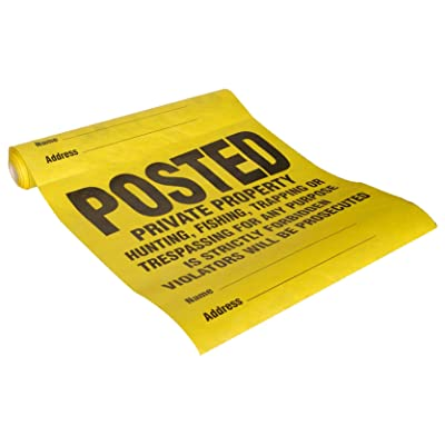 Hillman 843388 Posted Private Property Tyvek Roll (25 Signs), White