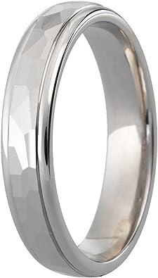 Platinum – Anillos de Boda exquisito diamante corte 3 mm banda ...