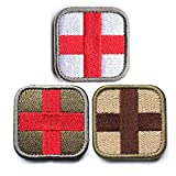 Horizon Medic Cross Tactical Patch - Olive Red White Green