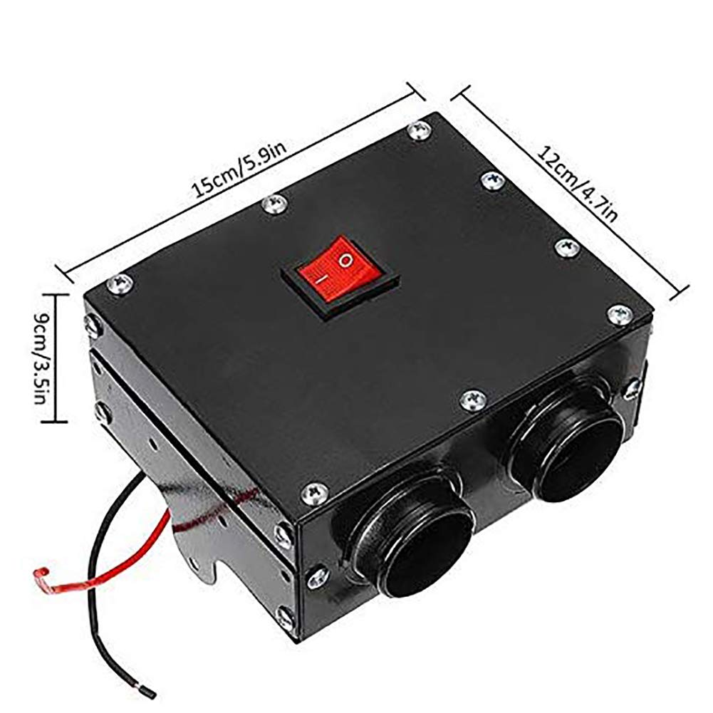 ANJING Kit Riscaldatore Auto 12V//24V 500W Alta Potenza Riscaldatore Riscaldamento rapido Sbrinatore Defogger per linverno Freddo