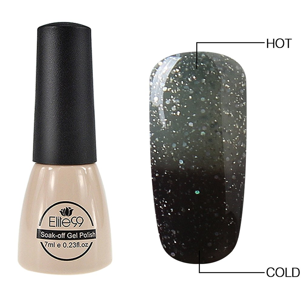 Amazon.com : Elite99 Thermal Temperature Color Changing Gel Nail ...