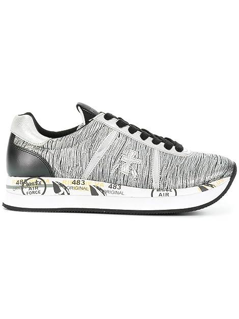 PREMIATA Conny - Zapatillas Para Mujer Plateado Plateado Plateado Size: 39 EU: Amazon.es: Zapatos y complementos