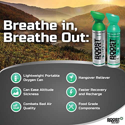 Boost Oxygen- 95% Pure Aviator's Oxygen- 5 liters by Boost Oxygen (Image #2)