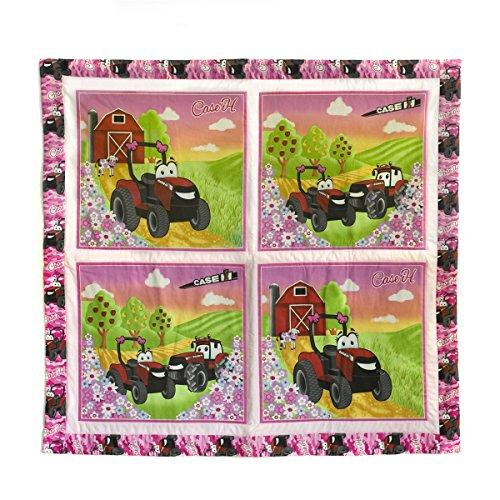 Pink CaseIH Tractor Baby Quilt