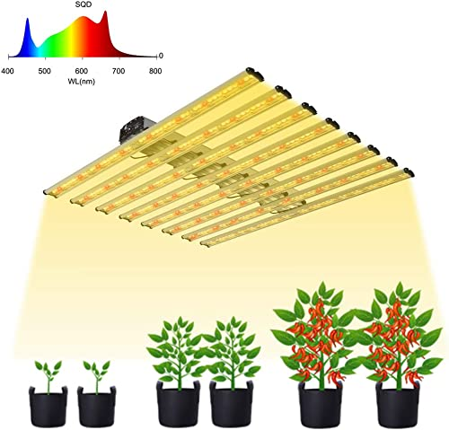BloomGrow New Tech LED 800W Full Spectrum Professional Grow Light Strips 8 bar from Veg to Bloom for Indoor Plants Growing