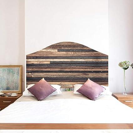 VanBest Vintage Wood Effect 3D Headboard Decal - Wall ...