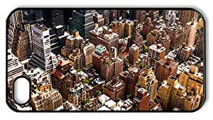 Hipster iPhone 4 case slim cases new york cityscape PC Black for Apple iPhone 4/4S