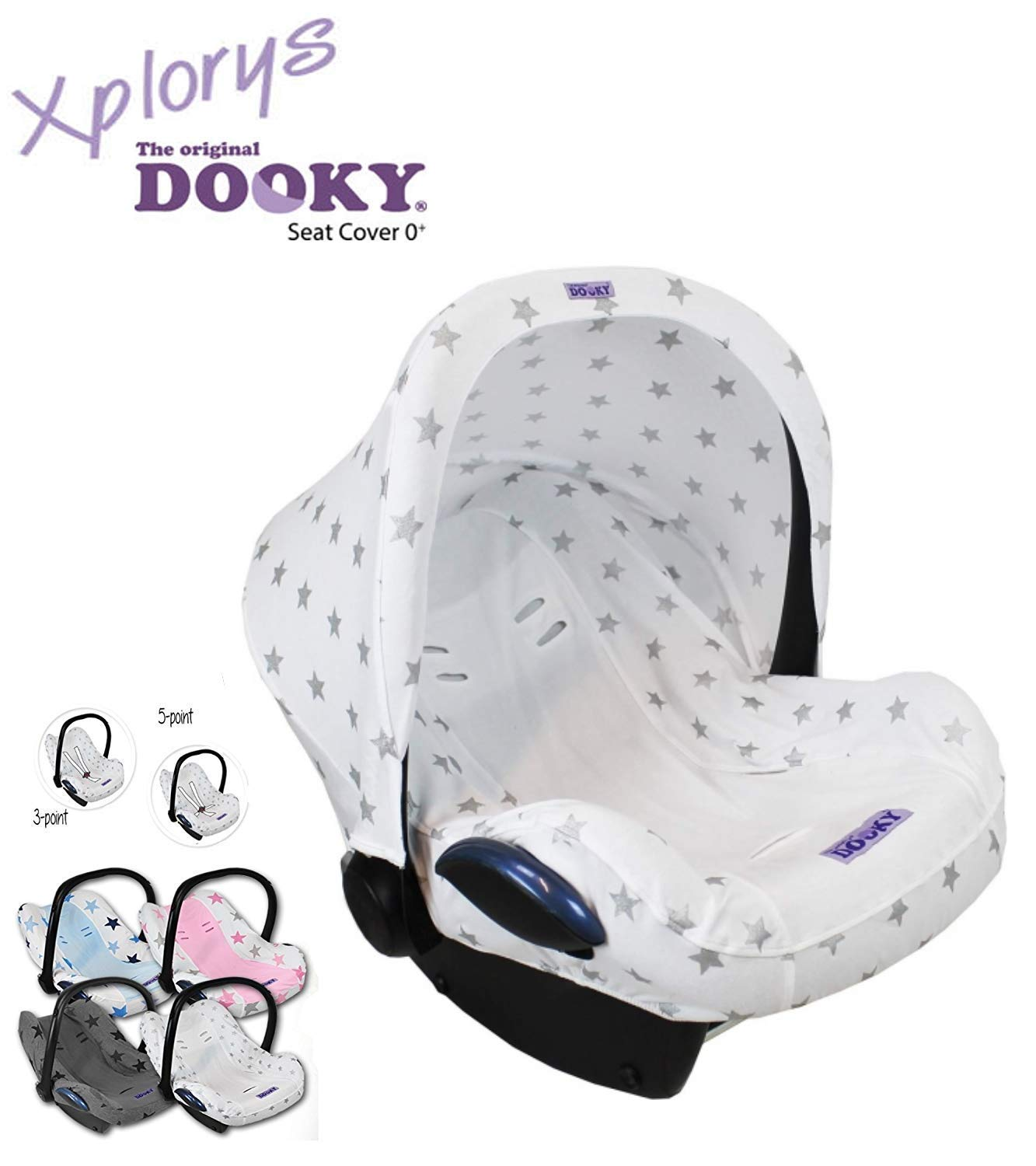 R/ömer and Other Baby Car Seats Group 0 Universal Cover for Maxi COSI Cabrio//CabrioFix//Pebble//Citi DOOKY Hoody Style UV as Sun Protection//Sun Canopy//Rain Protection