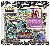 Pokemon TCG: Sun & Moon Celestial Storm - - Tapu Lele Blister 3 Random Booster Packs of 10 Cards Each | Includes Rare Authentic Legendary Alolan Guardian Holofoil