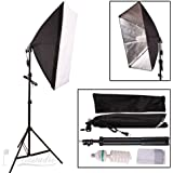 Abeststudio 135W Continuous Lighting Kit 50x70cm Softbox Soft Box Photo Studio 5500K Soft Box Kit -Softboxes + Fully Adjustable Aluminum Alloy Light Stand+135W Photo Studio Light Bulbs