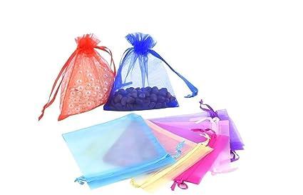 nalmatoionme Organza cordón regalo Candy bolsas de malla ...