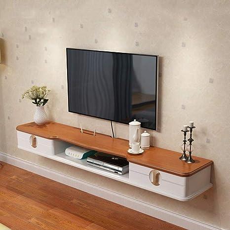 TV Rack Mueble de TV Montado en la Pared Estante de Pared Estante Flotante Set Top