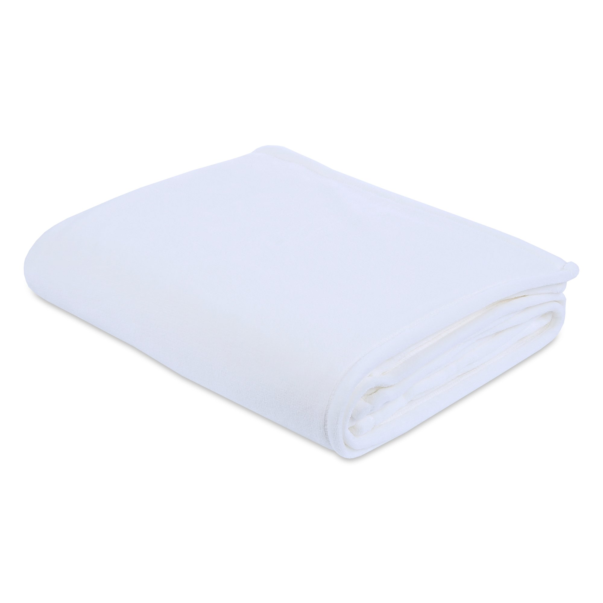 Berkshire Blanket Plush Serasoft Bed Blanket with Polartec Warmth Technology, Full/Queen, White