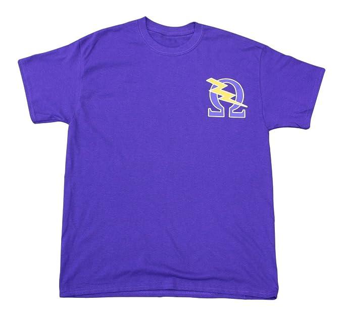 Mega Greek Mens Omega Psi Phi Symbol T Shirt Small Purple Amazon