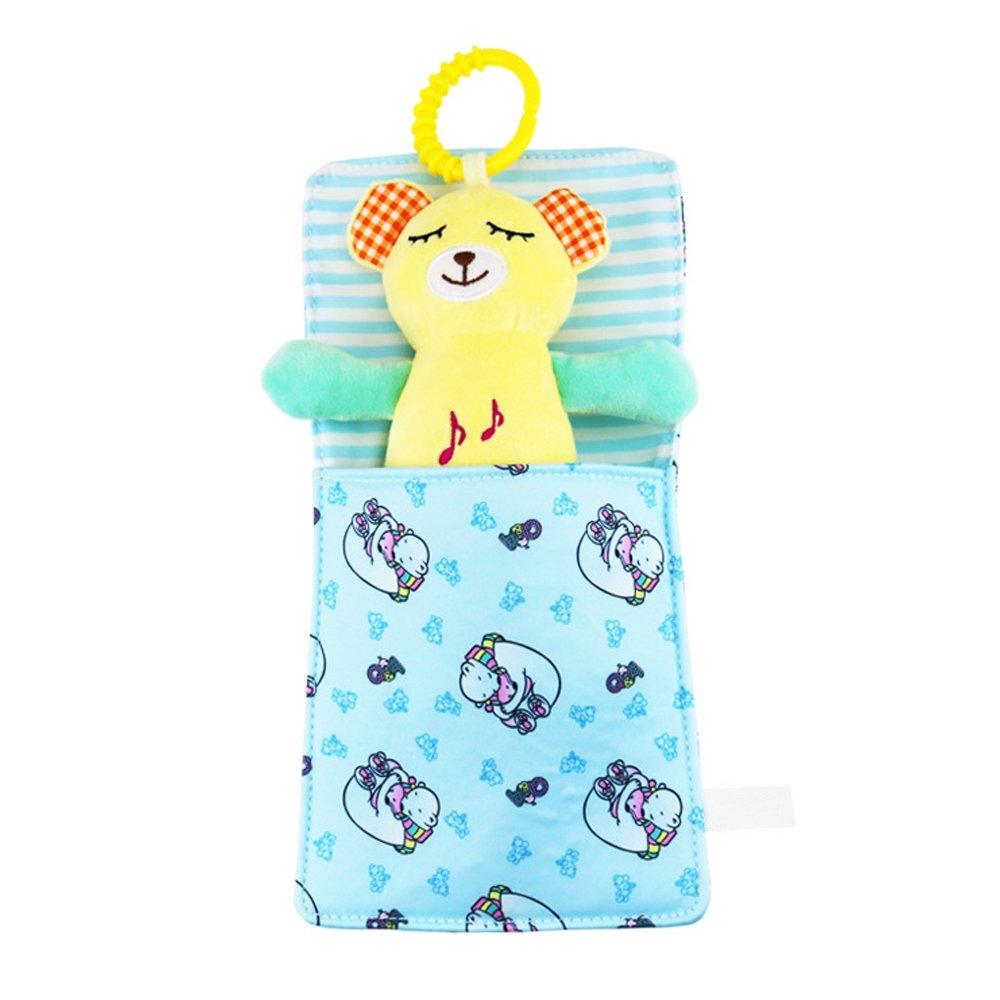 Isuper Saco de Dormir,Bolsas para muñecas con Sonidos Accesorio para Juguetes Colgante Sonajero Musical para bebé y niños(Oso): Amazon.es: Electrónica