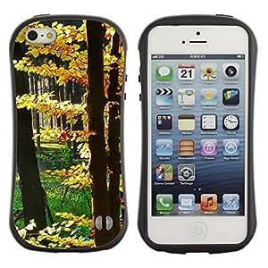 LASTONE PHONE CASE / Suave Silicona Caso Carcasa de Caucho Funda para Apple Iphone 5 / 5S / Plant Nature Forrest Flower 14