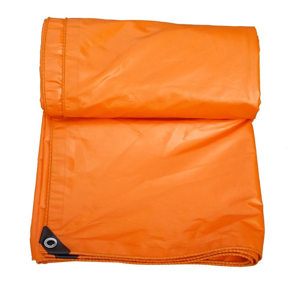 YNN オレンジ色のターポリン屋外防水布日保護厚い車のトラックサイズはカスタマイズすることができます 防水シート (色 : Orange, サイズ さいず : 6x 8m) B07FNNY4TQ 6x 8m|Orange Orange 6x 8m