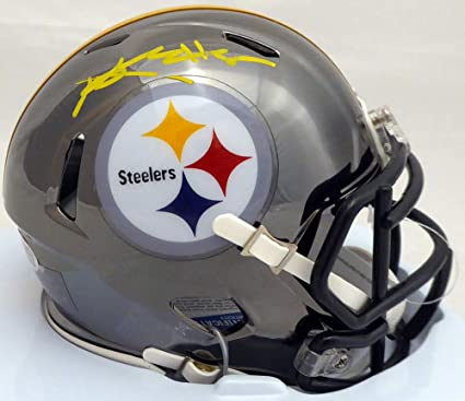 16d42f573 Antonio Brown Signed Pittsburgh Steelers Black Chrome Speed Mini Helmet  Memorabilia - Beckett Authentic