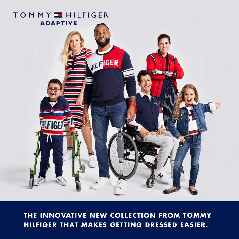 Tommy Hilfiger Girls' Adaptive Leggings with Elastic Waist, evening blue X-Small by Tommy Hilfiger (Image #4)