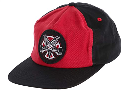 Image Unavailable. Image not available for. Color  Independent Trucks x  Thrasher Magazine Pentagram Cross Snapback Hat - Cardinal Red Black 9b8ab409dd7a