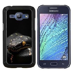 """Be-Star Único Patrón Plástico Duro Fundas Cover Cubre Hard Case Cover Para Samsung Galaxy J1 / J100 ( Veneno de Serpiente Negro Mamba Tropical"""" )"""