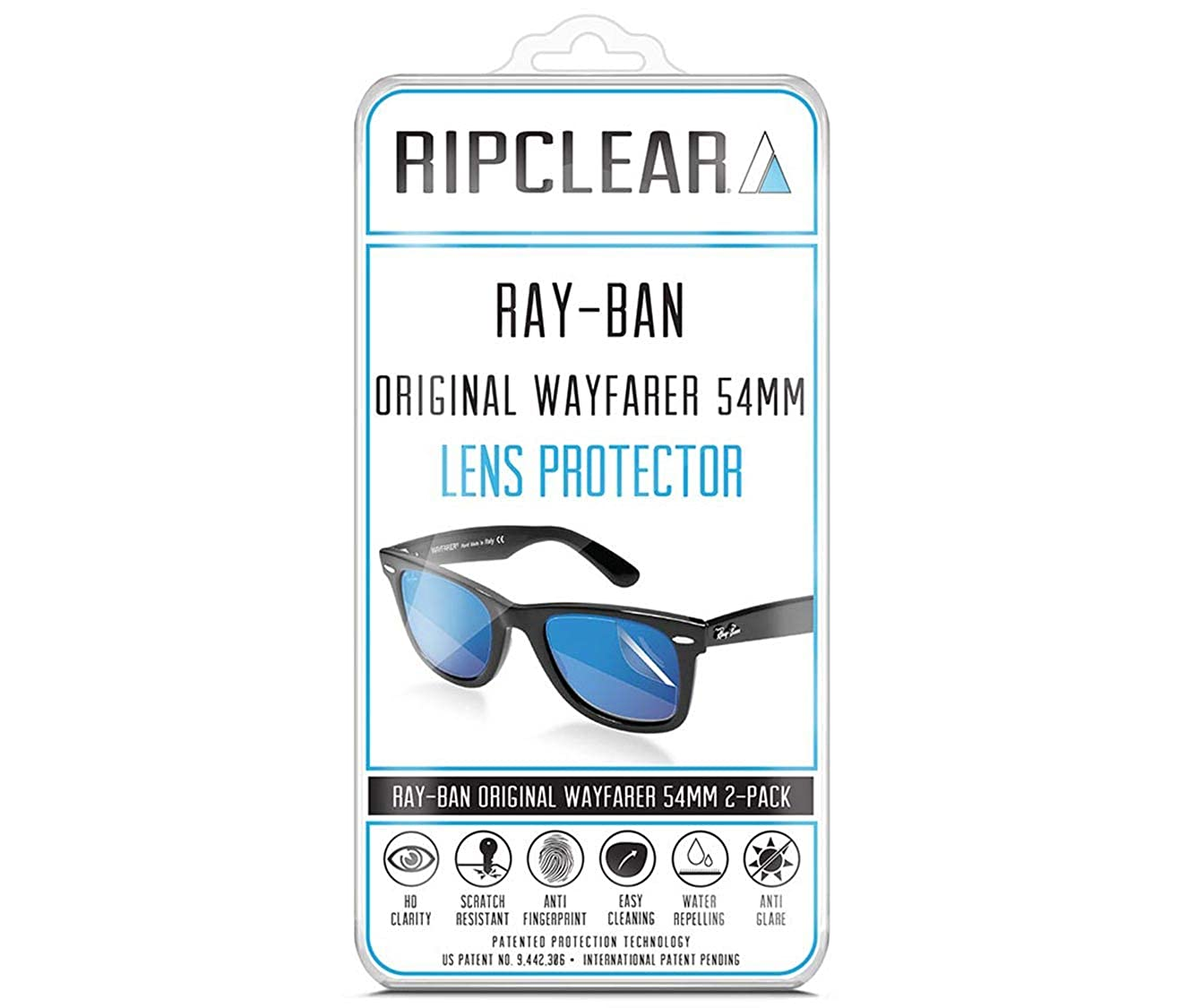 a4280ca60e6 RIPCLEAR Sunglass Protectors for Ray-Ban RB2140 Original Wayfarer Classic  (54mm) Lens Protectors Sunglasses - Scratch Proof Crystal Clear - 2 pack at  Amazon ...