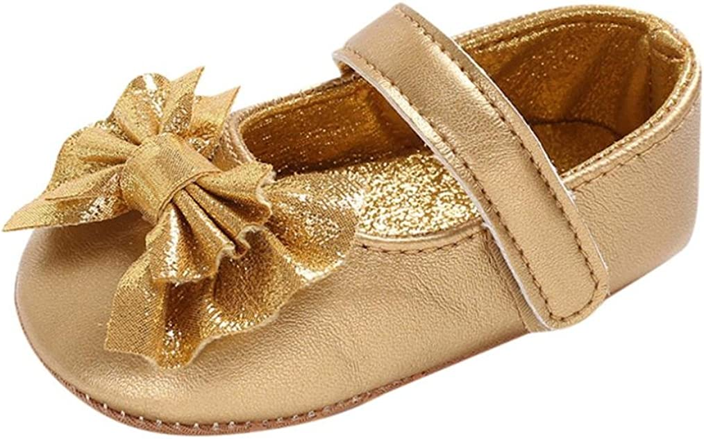 WARMSHOP Baby Moccasin Single Shoes Leather Soft Anti-Slip Crib Shoes Sandals