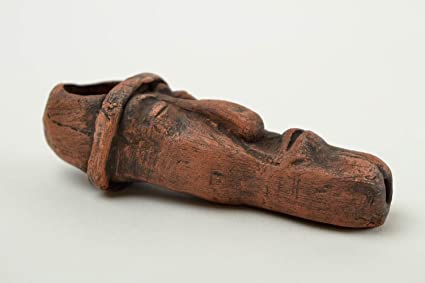 Pipe Fumar hecha a mano accesorio para hombre regalo original barro máscara Design