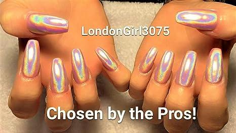Mejor Calidad Top grado Ultra fina 15um holográfica Chrome arco iris polvo pigmento – 3 ml