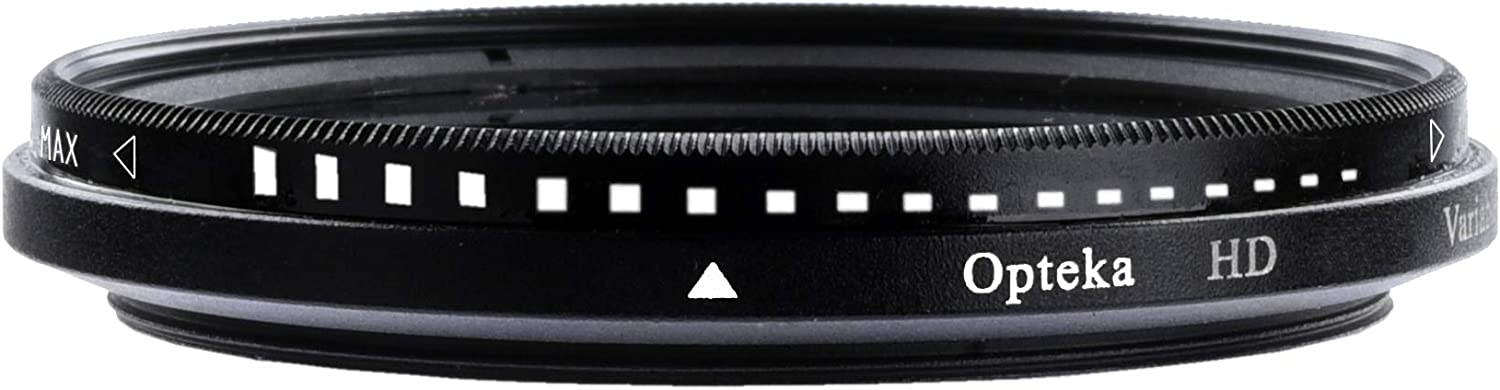 Nikon Pentax Sony Cameras and Lenses Olympus 2-8 Stops Glass Filter for Canon Fuji Opteka 62mm HD Multi-Coated Slim Fader Variable Neutral Density