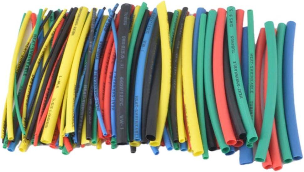 Ben-gi 100pcs 5 Color Encogimiento de 100 mm de Calor Tube Funda de plástico Transparente retráctil tubeHeat Bolsa de cloruro de polivinilo Que Encoge Tubos