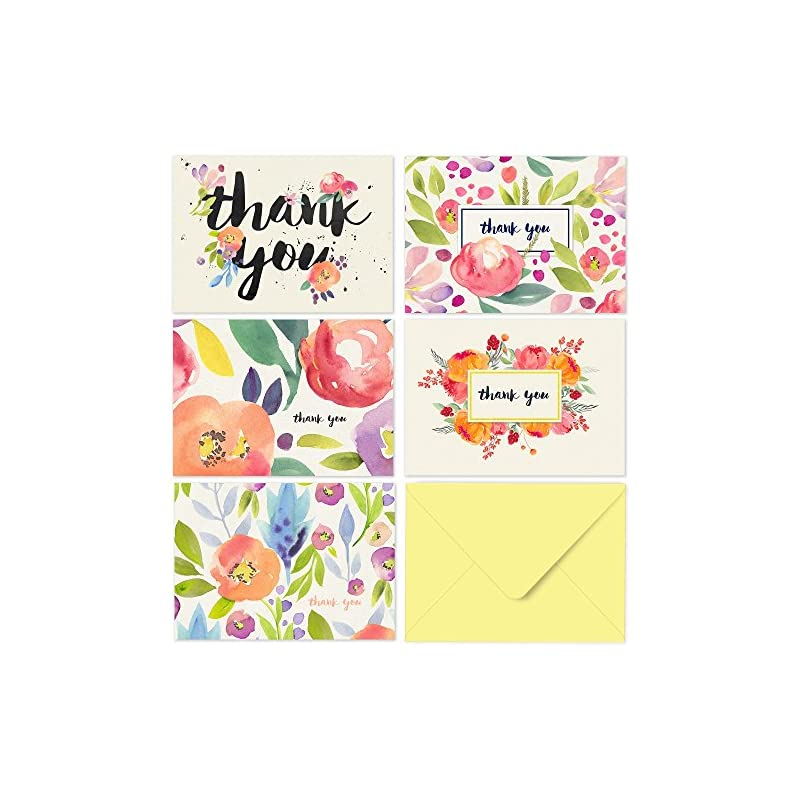 Thank You Cards - 40 Floral Thank You No
