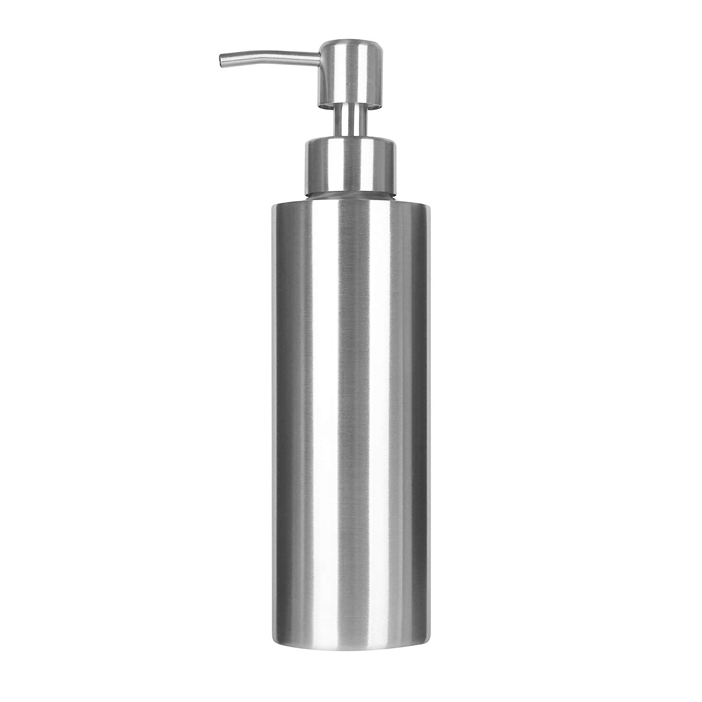 ARKTEK Soap Dispenser, Premium Stainless Steel Liquid and Soap Dispenser for Kitchen and Bathroom (350 ml)