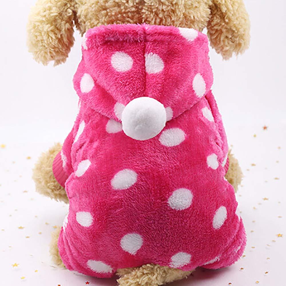 RETUROM Ropa para Mascotas Invierno Abrigo Chaqueta Caliente para Mascotas Perro