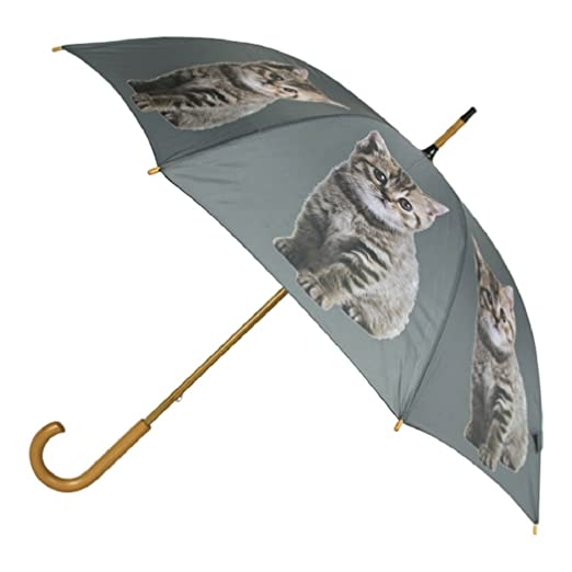 Mars & More paraguas Tiger gato 105cm (Madera: eucalipto, plástico: poliéster, estructura: acero): Amazon.es: Hogar