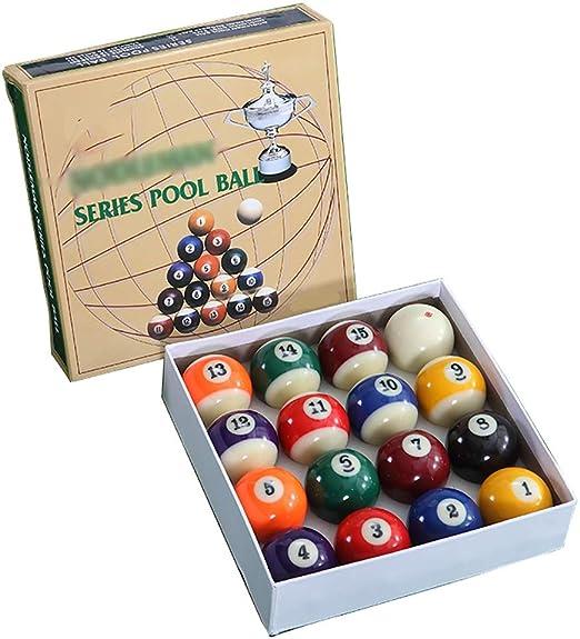 WXS Billar Pool Balls, 57.2MM Juego Bolas Mesa Billar Americano Grande Juego Bolas De Billar: Amazon.es: Deportes y aire libre