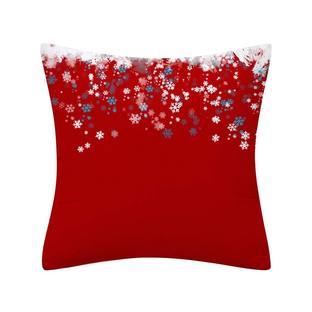 Lataw Pillow Case Merry Christmas New Year Glitter Polyester Soft Sofa Autumn Farmhouse Market Cushion Case for Sofa Couch