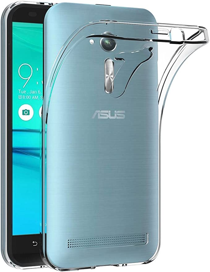 AICEK Funda ASUS Zenfone Go ZB500KL, Transparente Silicona Fundas ...