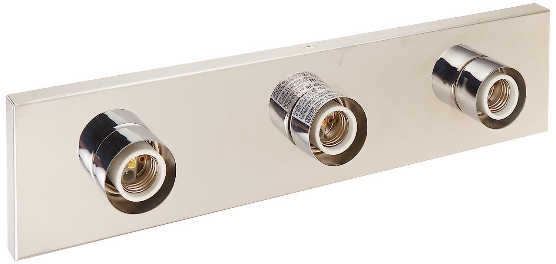 Nuvo sf77 /192 3つライト化粧台ストリップ、ポリッシュクローム、18インチ 1-Pack 77/192 1 B002OML830  光沢クロム 1-Pack