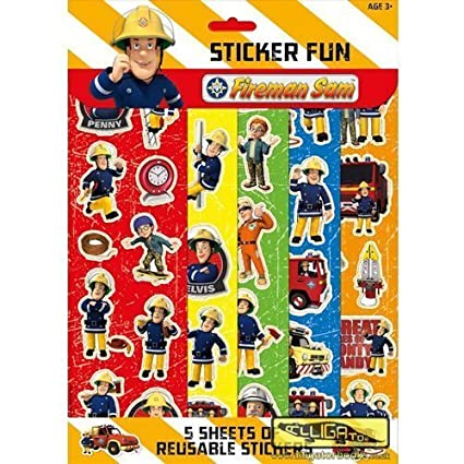 Amazon.com: Sam el bombero: Pegatina divertido: Toys & Games