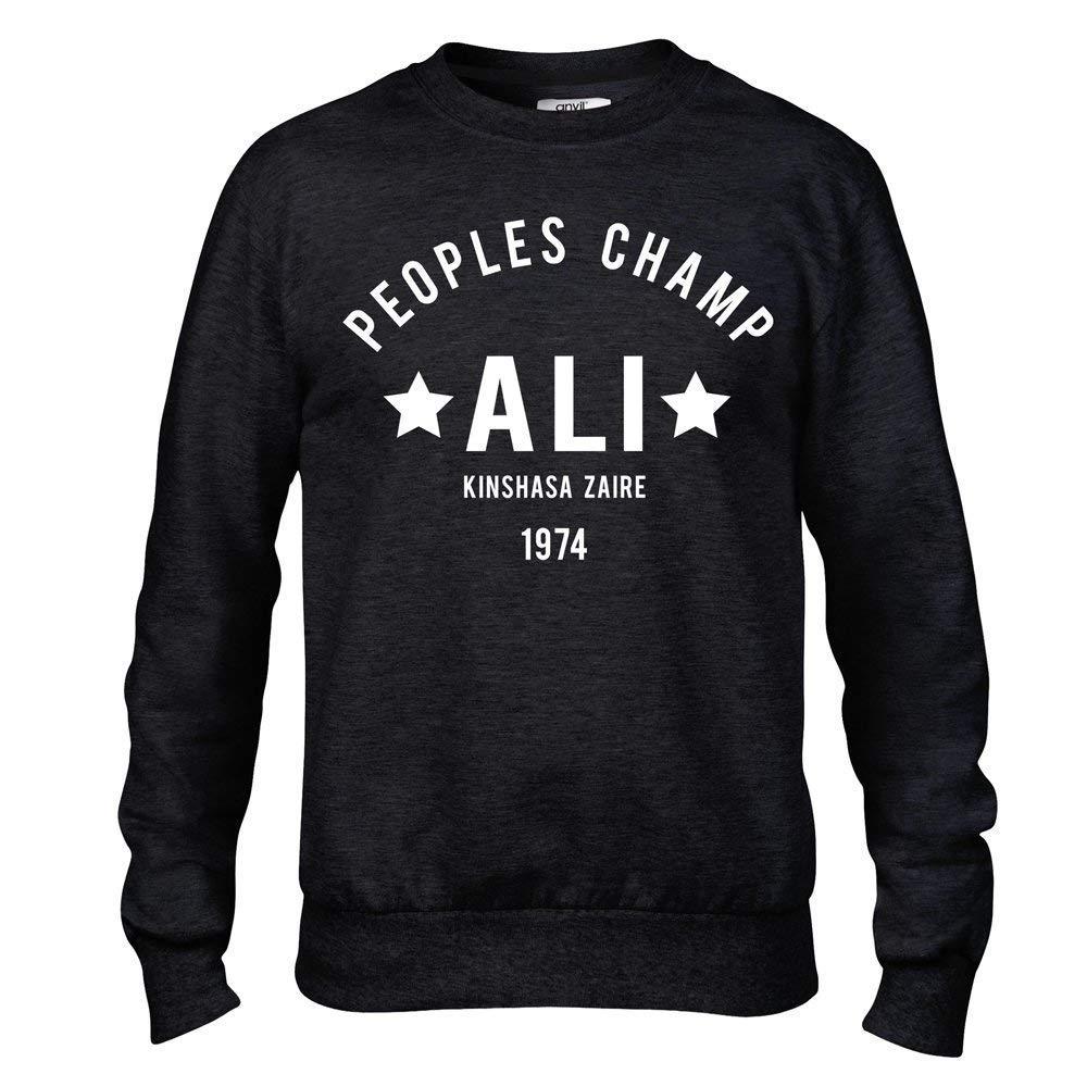 Muhammad Ali The Greatest Rumble in the Jungle Boxing Premium Mens Black Crew Sweatshirt ...