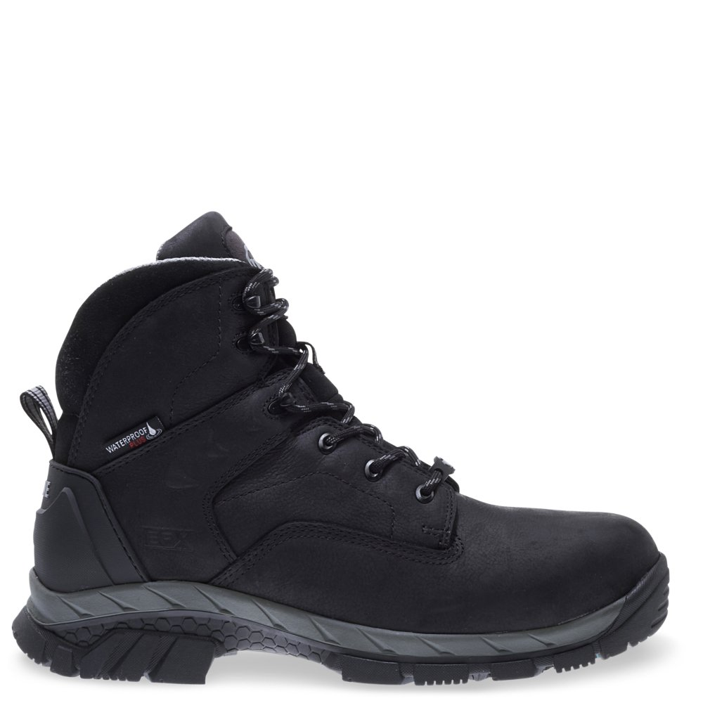 Wolverine Men's Glacier Ice Insulated Waterproof 6'' Comp Toe Work Boot, Black, 8.5 M US